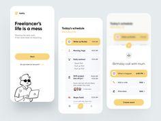 Freelancer Schedule App by Lorenzo Perniciaro for Fireart Studio on Dribbble