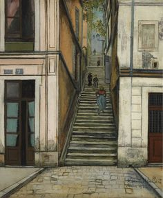 Maurice Utrillo - Passage Cottin, Montmartre 1922