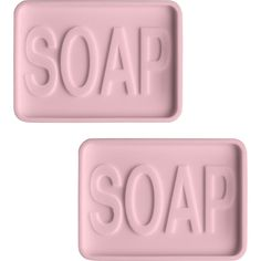 Dot & Bo Emmy Soap Dish - Set of 2 - Pink ($14) ❤ liked on Polyvore featuring home, bed & bath, bath and bath accessories