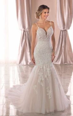 6793 Mermaid Wedding Dress with Sheerness and Beading by Stella York  Minimal Wedding Dress 9b0e57e2982e
