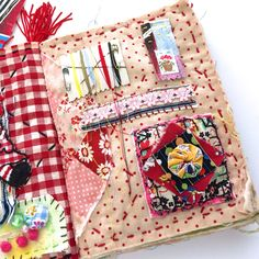 Scrap Fabric Projects, Fabric Scraps, Sewing Projects, Sewing Kits, Fabric Journals, Art Journals, Visual Journals, Fabric Art, Fabric Books