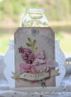 Crafting ideas from Sizzix UK: #thankyou tag mother's day