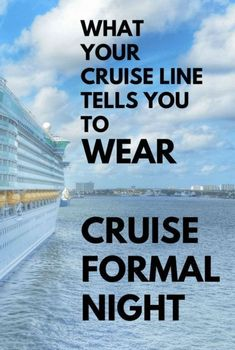 Cruise outfits and cruise packing tips: Cruise line policies of what to wear on a cruise formal night dinner. ideas on what to wear on a cruise! Cruise line ideas for what to wear for women and for men. Cruise tips, whether its a short cruise or 7 day cruise in summer or winter, with things to maybe add to your cruise packing list! Picture is Carnival cruise ship in Curacao at sunset during southern Caribbean cruise.  #cruise #cruisetips