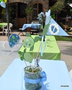 sea turtle themed baby shower | Amanda Sarver: CoCaLo Turtle Reef Baby Shower Centerpieces Handmade ...