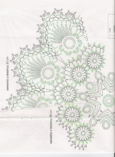 Crochet Knitting Handicraft: Napkins - the Irish and the Bruges lace