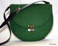 Harris Tweed Saddle Bag in Grass Green. by Ten10Creations on Etsy https://www.etsy.com/listing/231288883/harris-tweed-saddle-bag-in-grass-green