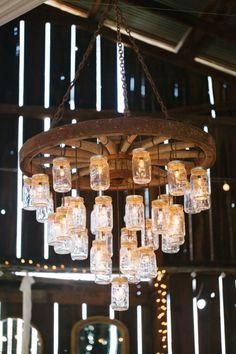 Mason Jar Chandelier for shabby chic barns
