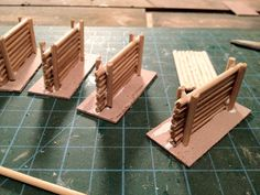 Miniatures & Terrain: Wooden Road Obstacles - W.I.P
