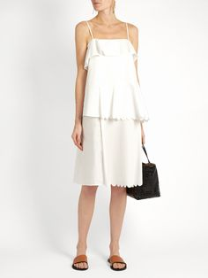 Scallop-edged cotton dress | See By Chloé | MATCHESFASHION.COM