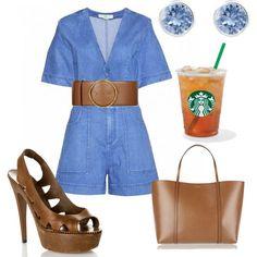 Starbucks by daniela-davis on Polyvore featuring polyvore fashion style Bottega Veneta Dolce&Gabbana Swarovski STELLA McCARTNEY