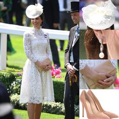 """43 Likes, 1 Comments - Duchess of Cambridge (@katemiddletonfashion) on Instagram: """"Today Kate attended Day 1 of the Royal Ascot with the Queen and family. Below are the details on…"""""""