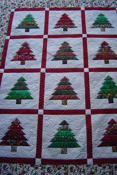 Christmas quilt idea - trees