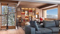 Flexform's iconic Groundpiece can be seen in Le 1550 Chalet, Chourchevel, France.  #flexform #flexformny #chalet #interior #interiordesign #view #cozy #vacation #industrialdesign #design #furnituredesign #hotel #hoteldesign #luxury #luxurydesign