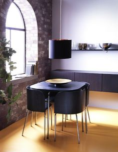 i love this idea for a tablechair set in the breakfast nook area ikea fan favorite fusion dining table and chairs the chair backs are shaped to fit the
