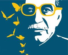 Mariposas amarillas #Gabo Hundred Years Of Solitude, More Than Words, Caricature, Diy And Crafts, Literature, Butterfly, Fan Art, Embroidery, Gabriel Garcia