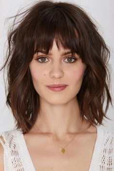 Super hairstyles for long fine hair with bangs - new hair models - hairstyle - . - Super hairstyles for long fine hair with bangs – new hair models – hairstyle – - Medium Haircuts With Bangs, Bob Haircut With Bangs, Medium Hair Cuts, Hairstyles With Bangs, Short Hair Cuts, Medium Hair Styles, Curly Hair Styles, Mid Length Hair With Bangs, Haircut Medium
