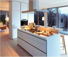 Contemporary Kitchen Designs from - bulthaup kitchen Kitchen Flooring, Kitchen Furniture, Kitchen Interior, Kitchen Decor, Interior Livingroom, Contemporary Kitchen Inspiration, Contemporary Kitchen Design, Open Plan Kitchen, New Kitchen
