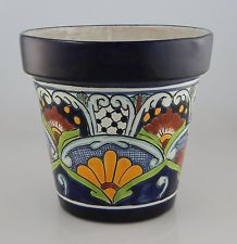 Etsy :: Your place to buy and sell all things handmade Talavera Pottery, Pottery Art, Ceramic Pottery, Paint Garden Pots, Painted Plant Pots, Mexican Ceramics, Ceramic Flower Pots, Polish Folk Art, Glazed Ceramic Tile