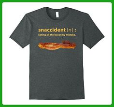 Mens Funny Breakfast Bacon Lover Snaccident T-Shirt Large Dark Heather - Food and drink shirts (*Amazon Partner-Link)