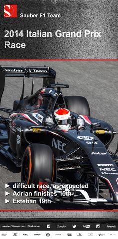 Sauber F1 Team, Italian Grand Prix, race ► difficult race, as expected ► Adrian finishes 15th ► Esteban 19th ► more on www.sauberf1team.com #F1 #SauberF1Team #ItalianGP #FormulaOne #Formula1 #motorsport