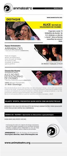 Extra! Extra! Última oportunidade para ver ARRABALDES e a ALICE NO PAÍS DO SOLDADINHO DE CHUMBO, este Sábado e Domingo. APROVEITEM!