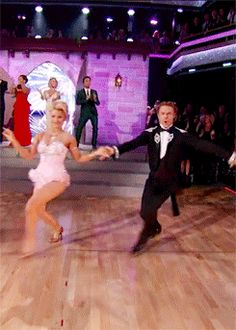 "Dancing With the Stars - Derek Hough & Nastia Liukin danced a beautiful foxtrot to Love is an Open Door from Disney's ""Frozen"" - Season 20 - week-5 Disney Night - spring 2015 - score - 9+9+10+10 = 38"