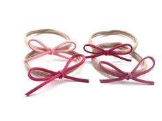 Dainty Suede Bow Headbands - Shades of Pink – Loved By Sophia Claire