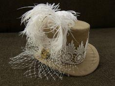 Steampunk Wedding Dress/ bustle skirt corset hat by OohLaLaBoudoir, $999.00