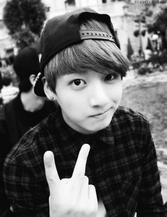 jungkook black and white - Google Search