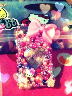Pink kawaii decoden iphone case by glittersweeet on Etsy, $55.00