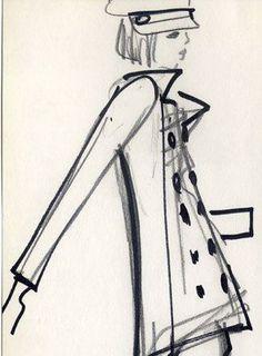 1962 sketch by YSL