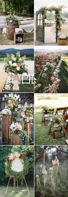 organic floral rustic wedding decoration ideas