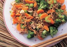 There are countless vegetables in this tasty SuperValue Vegetables and Noodles recipe. Add beef to give it more taste and soy sauce to bring everything together. Vegetable Noodles, Beef And Noodles, Vegetable Recipes, Stir Fry Recipes, Noodle Recipes, Mushroom Pasta, Fries, Stuffed Mushrooms, Pork