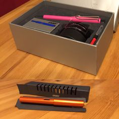 Lamy Fountain Pen Set ~ Pink. Lamy AlStar ~ copper-orange.