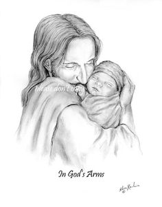 Glimpse of Heaven- Jesus Christ Holding a Newborn Baby - Photo Pictures Of Christ, Catholic Pictures, Padre Celestial, Jesus Christus, Jesus Art, Kingdom Of Heaven, Holding Baby, Losing A Child, Infant Loss