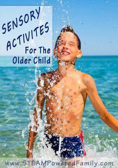 A great list of ideas for sensory activities for the older child. From archery to swimming there are lots of fun activity suggestions. Sensory Tools, Autism Sensory, Sensory Diet, Sensory Issues, Sensory Play, Activities For Teens, Therapy Activities, Infant Activities, Learning Activities