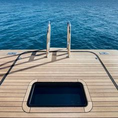 Vertigo Yacht swim platform. Live on the water.