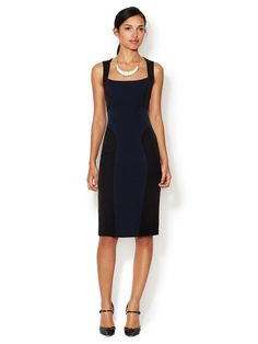 Caroline Colorblocked Sheath Dress