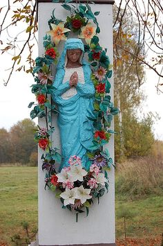 Wayside Shrine in Mikolow County, Silesian, Poland