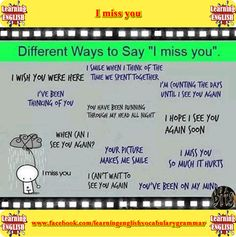 how to say i miss you in pidgin english