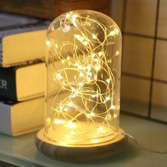 1 M 3.3FT 10Led 2 * CR2032 Batterij Aangedreven Mini LED Koperdraad Fairy String Light Night Lamp Voor Slaapkamer Party Bruiloft Decoratie
