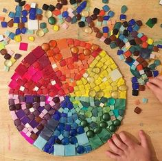 Check out this beautiful #colorwheel  Repost  from @howwemontessori  #tinyugames #learningthroughplay #learnthroughplay #montesorri #montessoriathome #playmatters #toddlerart #toddleractivities #totschooling #easycraft #earlychildhoodeducation #invitationtocreate