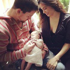 Channing Tatum und Jenna Dewan mit Baby Everly (Bild: Instagram)
