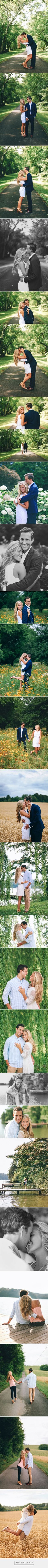 Gorgeous outdoor engagement photo shoot and great pose ideas. I love all these photos | engagement photography | outdoor engagement photos | engagement pose ideas