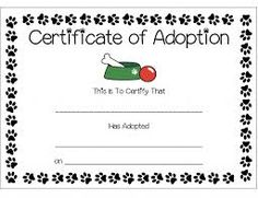 Blank Adoption Certificate  Adoption Certificate Template