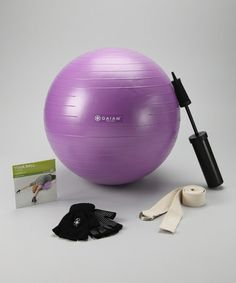 Take a look at this Rodney Yee's Yoga Ball Beginner's Kit on @zulily today!