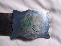 SOUTH AFRICAN IRISH REGIMENT PIPERS BELT & BUCKLE SHAMROCK BADGE ON PLATE in Collectables, Badges/ Patches, Military Badges | eBay Military Belt, African Culture, Belt Buckles, Badges, Irish, Patches, Plate, Ebay, Military Personnel