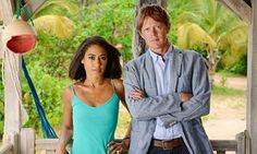 Josephine Jobert and Kris Marshall, stars of Death in Paradise.