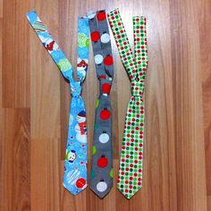 Holiday/Christmas ties size 10 months - 2 years selling for $8.50 you can see more items at www.facebook.com/littledivasndudes