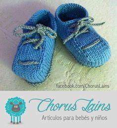 Patucos Modelo UVI by Chorus Lains Bocolor Azul/Verde